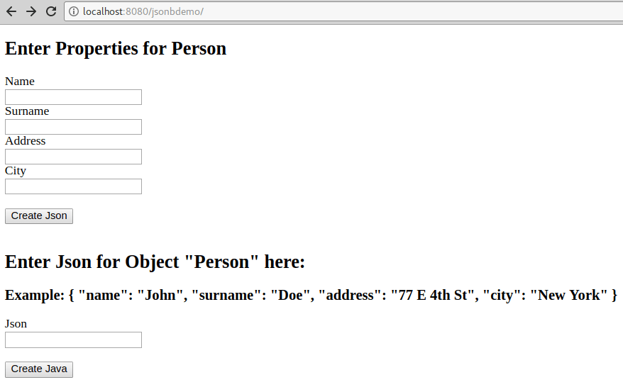 How to use JSON-B for converting Java objects to/from JSON
