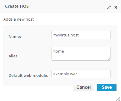wildfly virtual host configuration