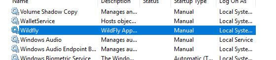 WildFly Windows installation